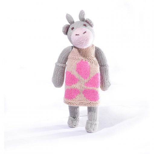 Cow Soft Toy in Big Pattern Dress