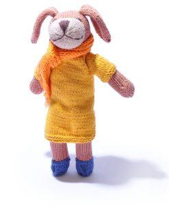 Dog Soft Toy in Orange Winter Coat
