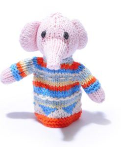 Organic Cotton Elephant Toddler Finger Puppet by ChunkiChilli