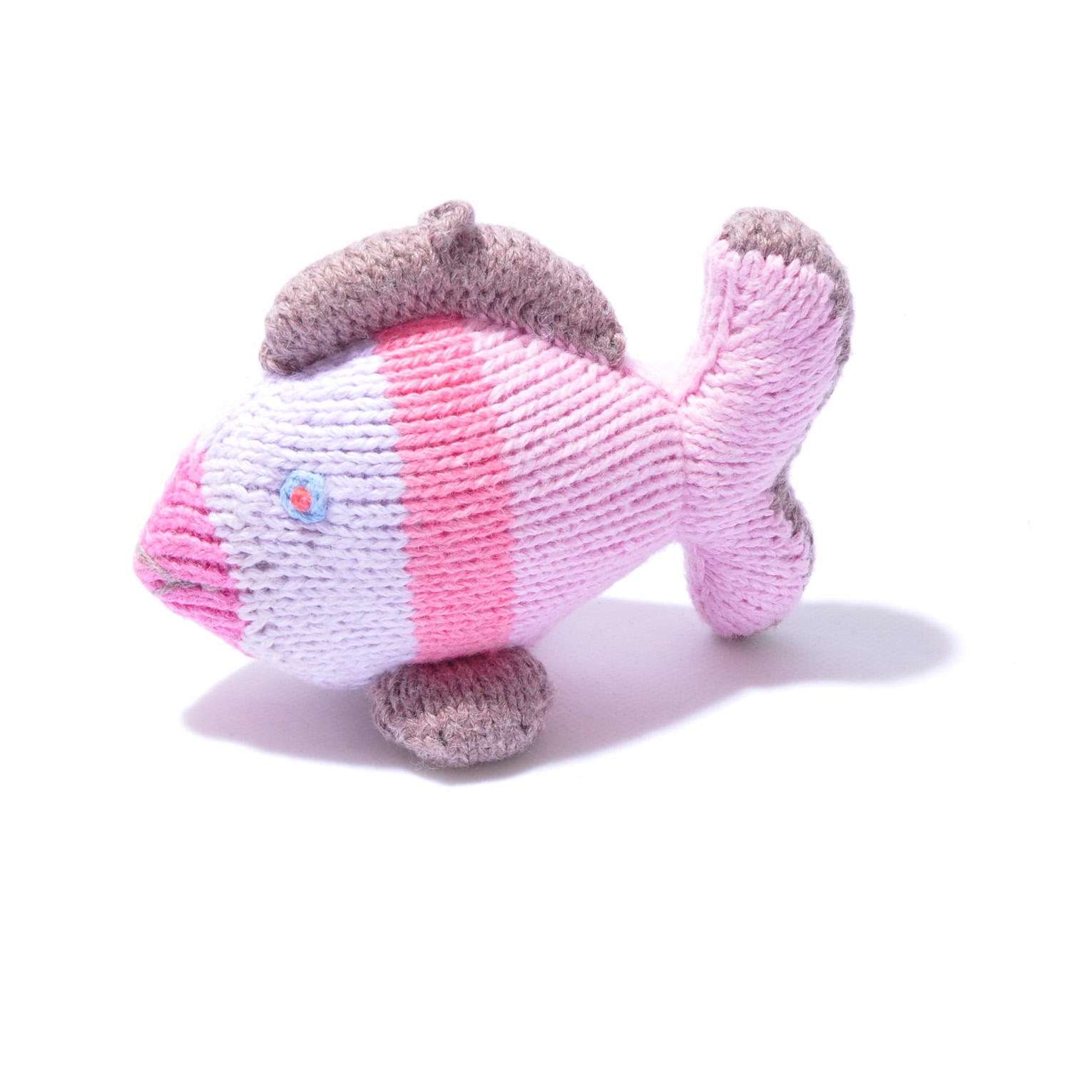 Organic Cotton Fish with Pink Stripes