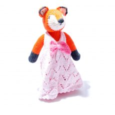 Organic Cotton Fox Soft Toy in Pink Dress