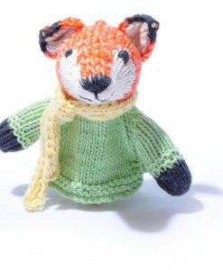 Organic Cotton Fox Finger Puppet by ChunkiChilli