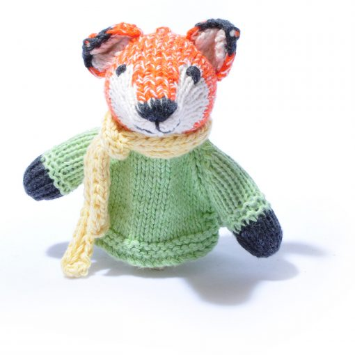 Organic Cotton Fox Finger Puppet by ChunkiChilli