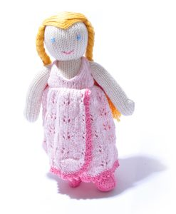 Organic Cotton Girl Soft Toy by ChunkiChilli