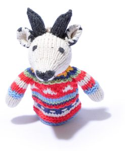 Organic Cotton Goat Toddler Finger Puppet by ChunkiChilli
