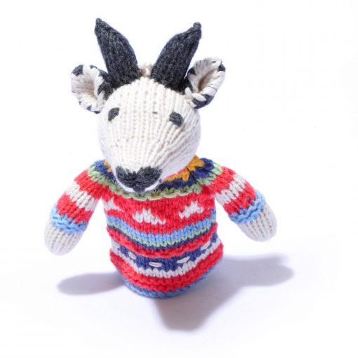 Organic Cotton Goat Toddler Finger Puppet by ChunkiChilli