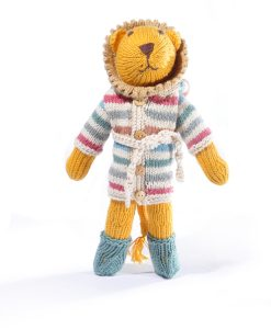 Lion Soft Toy in Changeable Stripy Hoodie
