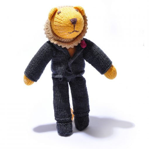 Organic Cotton Lion in Black Suit