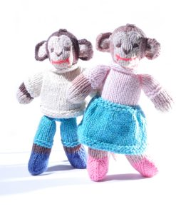 Pair of Toddler Monkeys in Organic Cotton