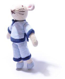Organic Cotton Mouse Soft Toy by ChunkiChilli
