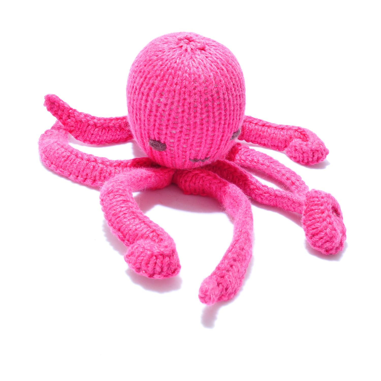 Octopus Soft Toy in Dark Pink