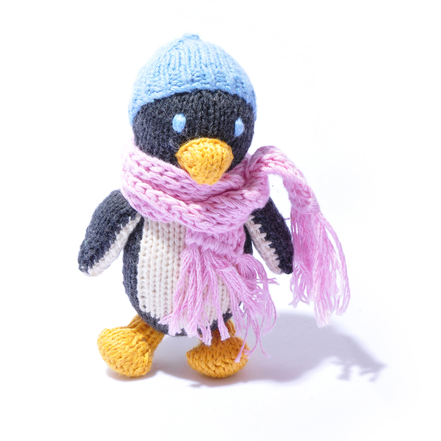 Penguin Toddler Soft Toy in Blue Beanie