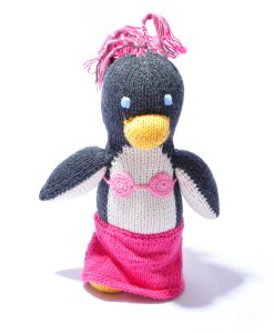 Penguin Toy in Pink Dress and Tufts