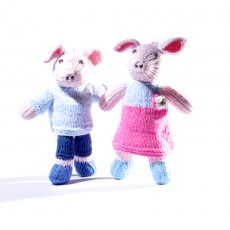 Set of Two Pig Toddler Soft Toys