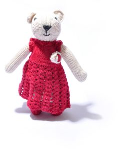 Polar Bear in Crochet Dress