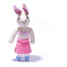 Rabbit Soft Toy in Pink Beachwear