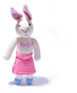 Rabbit Soft Toy in Pink Beachwear