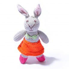 Rabbit Toddler in Orange Beach Skirt