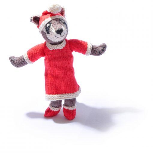 Christmas Raccoon Soft Toy by ChunkiChilli