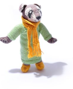 Organic Cotton Raccoon in Green Coat by ChunkiChilli