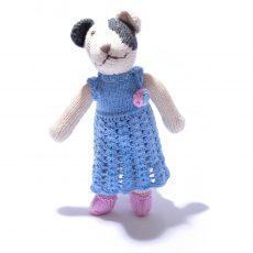 Spot Dog in Crochet Dress by ChunkiChilli