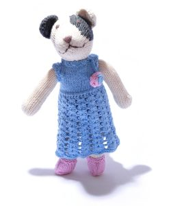 Spot Dog in Crochet Dress by ChunkiChilli