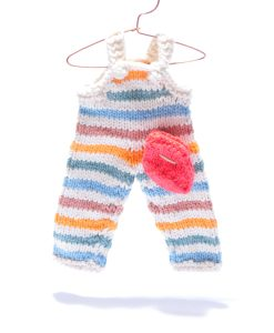 Stripe Dungarees for Soft Toy by ChunkiChilli
