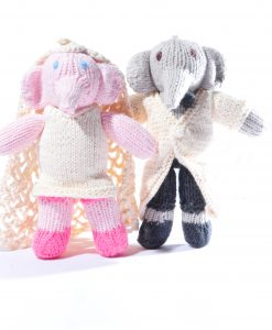 Organic Cotton Elephant Wedding Couple