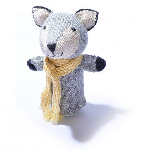 Organic Cotton Wolf Hand Puppet by ChunkiChilli
