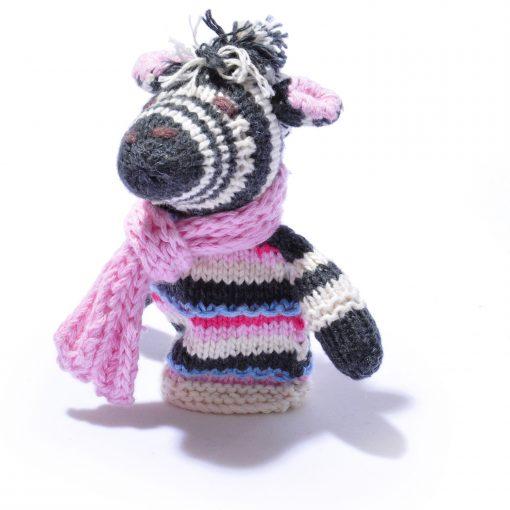 Organic Cotton Zebra Finger Puppet by ChunkiChilli