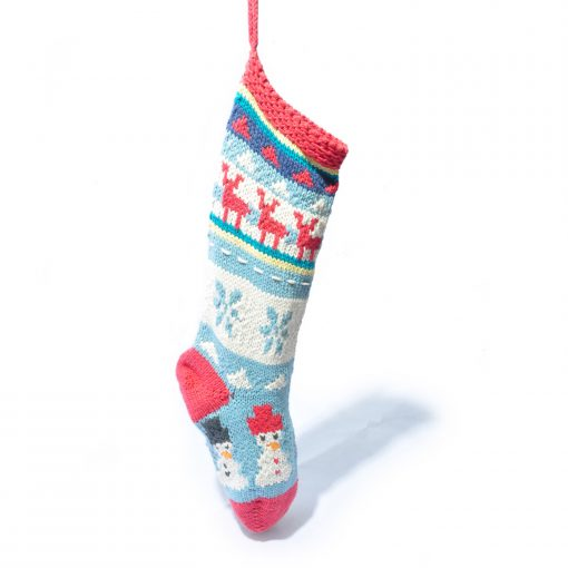 Blue Sky Organic Cotton Christmas Stocking