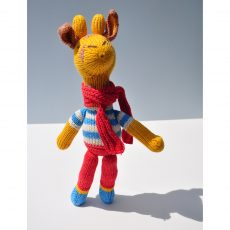 Giraffe Soft Toy in Stripy Top