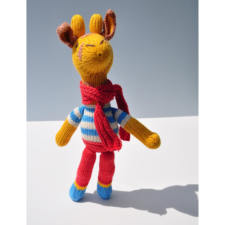 Giraffe Soft Toy in Stripy Top