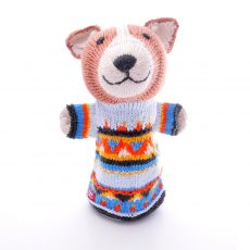 Hand knitted hand puppet