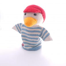 Hand knitted organic cotton hand puppet