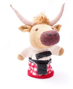 Highlander Cow in Red Kilt