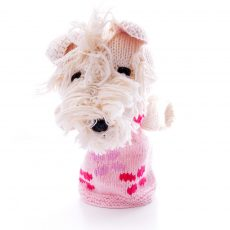 Scottie Dog Hand Puppet in Organic Cotton