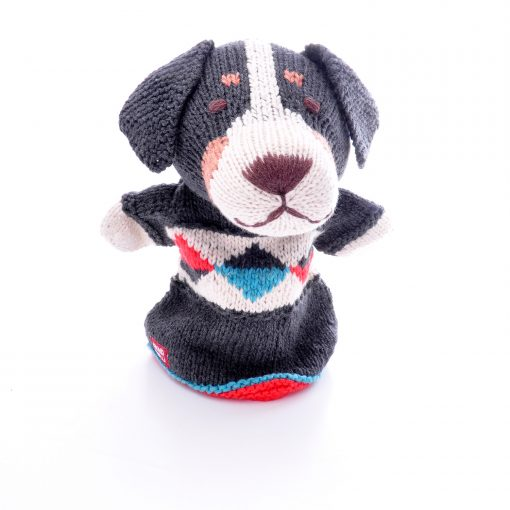 Sheepdog Hand Puppet in Organic Cotton