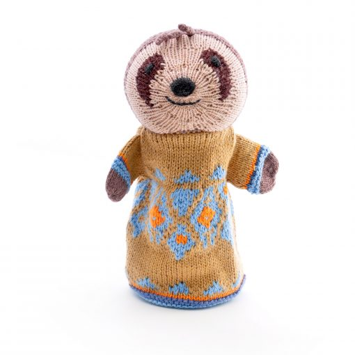 ChunkiChilli Sloth Hand Puppet in Organic Cotton