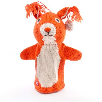 ChunkiChilli Squirrel Hand Puppet in Organic Cotton