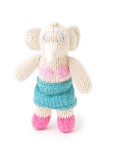 ChunkiChilli Hand Knitted Elephant Soft Toy