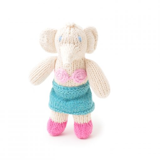 ChunkiChilli Hand Knitted Elephant Soft Toy