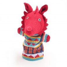 ChunkiChilli Welsh Dragon Hand Puppet in Organic Cotton