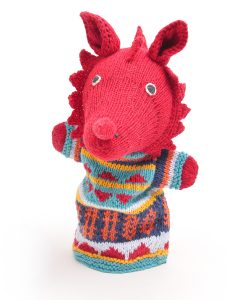 ChunkiChilli Welsh Dragon Hand Puppet in Organic Cotton