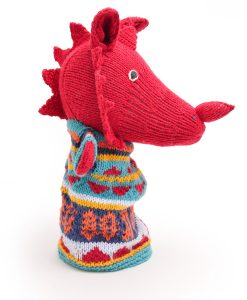 Welsh Dragon Hand Puppet by ChunkiChilli
