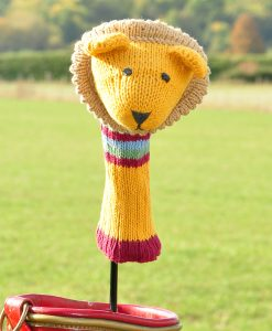 ChunkiChilli Lion Knitted Golf Club Cover