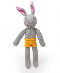 Naked Grey Rabbit Soft Toy
