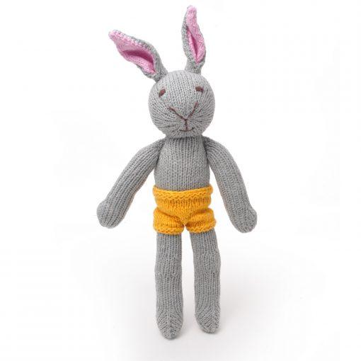 Naked Grey Rabbit Soft Toy