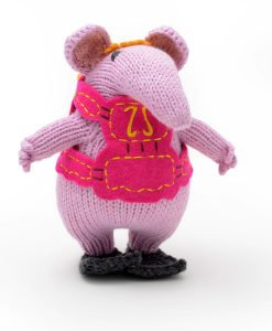 Hand Knitted Clanger Soft Toy