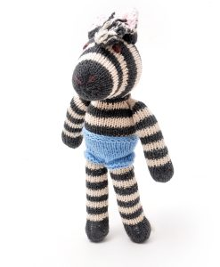 ChunkiChilli Hand Knitted Zebra Soft Toy